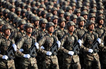 File photo of soldiers from Chinese PLA Special Operations Forces marching in formation during training session on the outskirts of Beijing